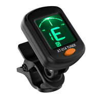 Chromatic LCD Clip On Tuner Electric Acoustic Guitar Bass Violin,Banjo, Ukulele