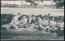 COLORA MD West Nottingham Presbyterian Camp Jr High Discovery Group Vtg Postcard