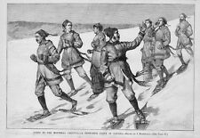 SNOE-SHOE PARTY IN CANADA GOING TO MONTREAL CARNIVAL, 1884 CANADIANS SNOW-SHOE