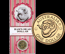 2011 $1 Perth ANDA Rams Head P Counterstamp Unc Coin