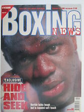 Boxing News 20 Feb 1998 Herbie Hide Dunstan Sprott Eastman Alan Temple Vanzie