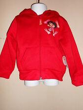 Nick Jr Toddler Girls Dora the Explorer Hoodie & Tee Shirt Set Red 2T Nwt