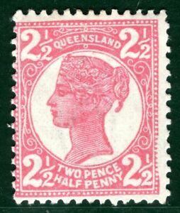 Australia States QUEENSLAND QV SG.236 2½d Rose (1898) Mint LMM Cat £18+ EBLUE114