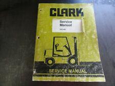 Clark Cmp40 Cmp45 Cmp50s Forklift Service Manual Sm648