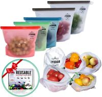 Zip Lock Reusable Food Container Storage Thick Freezer Bag (10pc)