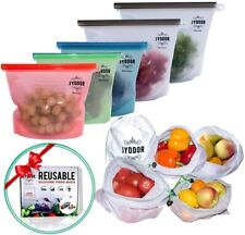 Zip Lock Reusable Food Container Storage Thick Freezer Bag 10pc
