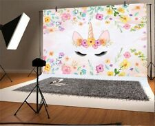 Abstract Flower Unicorn 7x5ft Photography Backgrounds Birthday Photo Backdrops