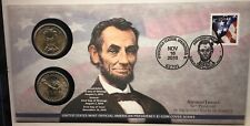 2010 P & D LINCOLN PRESIDENTIAL DOLLAR COIN COVER - UNOPENED - MINT PACKAGING