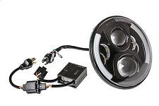 LED Scheinwerfer Hauptscheinwerfer Schwarz 7 Zoll mit TÜV für Jeep Mercedes Ford