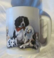Otagiri Puppy Dog Ceramic Coffee Mug Cup Linda Picken 8 oz  Puppies Dogs EUC