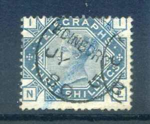 QV SGT11 3/- Slate Blue Telegraph Stamp Fine Used