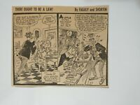 VTG Newspaper Cartoon Comic 9/7/1954 THERE OUGHT TO BE A LAW By Fagaly & Shorten