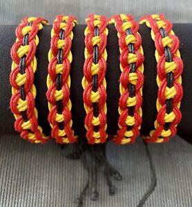 Aboriginal Flag Colours Koori  🖤💛❤️ Adjustable Bracelet Aboriginal Pride BLM