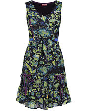 Joe Browns Green Print ALL SEASONS Sleeveless Dress SIZE 26 ONLY NOW LEFT