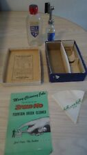 VINTAGE BOTTLE SPEED-MO FOUNTAIN BRUSH BOX BOTTLE CLEANING TOOL & MANUEL