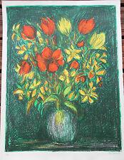 COTTAVOZ André - Lithographie lithograph signée EA bouquet de fleurs 1983 **