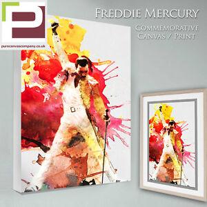 FREDDIE MERCURY Commemorative Canvas / Photo Print