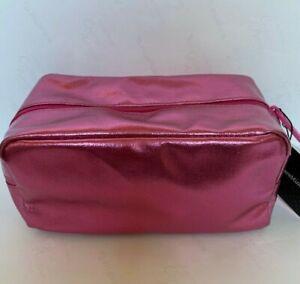 BareMinerals Escentuals Metallic-Pink Padded-Rectangular Cosmetic Makeup Bag