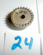 """24 Tooth Brass CROWN Gear 48 Pitch 1/8"""" hole Classic Industries NOS Slot Car"""