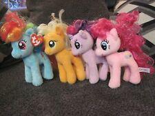 """TY My Little Pony 6"""" Lot Rainbow Dash, Twilight Sparkle, Applejack, Pinkie Pie"""