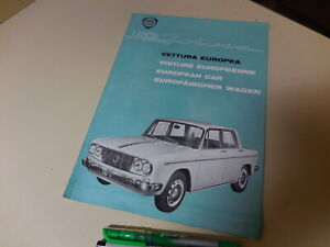 LANCIA FLUVIA German English French Italian Brochure 1963/03?