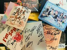KPOP IDOL BOYS, GIRLS GROUP PROMO ALBUM Autographed ALL MEMBER Signed #191205