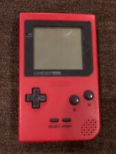 Game Boy Gameboy Pocket Red Nintendo  Console MGB-001 With 3 Games 1989-1996