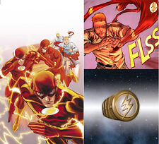 THE FLASH Ring + GREEN LANTERN  Ring  DC Comics - Barry Allen Hal Jordan