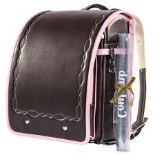 Randoseru Back School Bag Dark Brown / Pink 2017 Model Coulomb Superfine