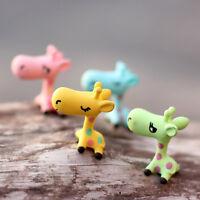 Animals Miniature Giraffe Ornament Home Decor Garden Figurine Bonsai Statue BH