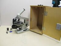 """*MICROSCOPE, CIRCULAR STAGE, VINTAGE {BIOLOGY} """"BIOLAM"""" by LOMO RUSSIAN + EXTRAS"""