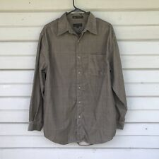 Metropolitan by Lord & Taylor Men's Long Sleeve Shirt Medium Plaid Design Brown