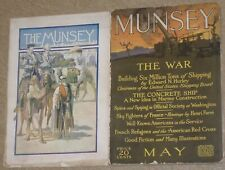 Set of two Pulp Magazines~THE MUNSEY~Feb. 1905 & May 1918 Articles/Short Stories