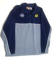 Winners Circle Mens XL Navy Blue Fleece Jimmie Johnson 48 Nascar Racing Sweater