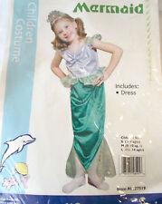 Mermaid Little Ariel Child Costume Dress 3-4 NIP