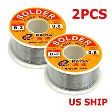 2pcs 6337tin Lead Line Soldering 08mm Rosin Core Solder Flux Welding Wire Reel