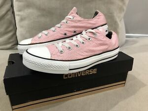 Rare Womens CONVERSE All Star Pink Stripe Low Top Chuck Taylor AS OX US 8.5 [305