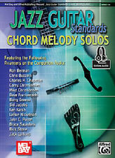 JAZZ GUITAR STANDARDS CHORD MELODY SOLOS SONG BOOK NEW