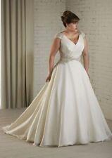 Chiffon Cap Sleeve Plus Size Wedding Dresses
