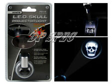 WHITE LED SKULL PROJECTOR LIGHT INTERIOR EXTERIOR DASH FOR CAR & TRUCK