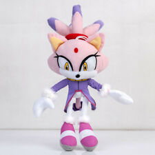 Sonic the Hedgehog Plushie Blaze the Cat Plush Stuffed Doll Toy 13in. Kids gift