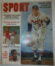 Sport Magazine Warren Spahn & John Thomas' August 1961 ACCEPT COND 021715r2
