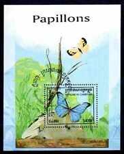 Papillons Cambodge (4) bloc oblitéré