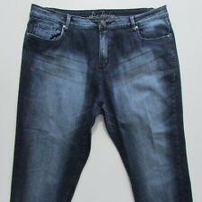 City Chic Jeans Womens Size 18 L26 Capri Straight Fit Blue Denim Zip Fly