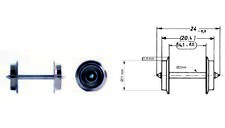 Fleischmann 6560 Wechselstrom Radsatz 11mm je für AC Metallgleis