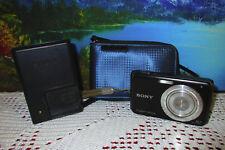 Used Sony Cyber-Shot DSC-W180 Digital Camera w/ Battery, Charger, Case & MemCard