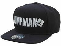 Nike Jordan Jumpman Script Black Snapback Caps 849125-010 Ajustable