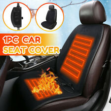 Universal Heated Car Seat Chair Cushion 12v Heating Warmer Pad Hot Cover Black