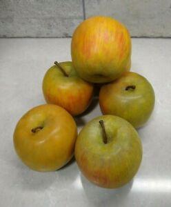 Faux Fruit Varies Apples Display Set Design Decorative Realist Looking Set of 6