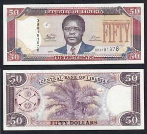 Liberia 50 dollars 2009 FDS/UNC  A-04